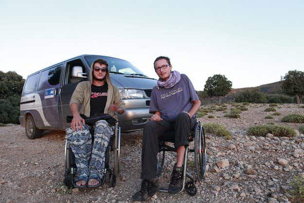 No frontiers: these two travellers who use wheelchairs are pursuing a South American wilderness adventure