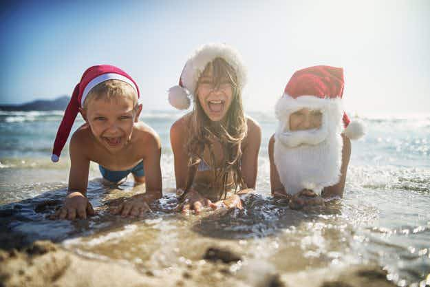 It's mince pies and mistletoe on Bondi as Australia is voted most desirable destination for Christmas Day