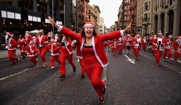 In pictures: armies of Santa Clauses take over cities around the world