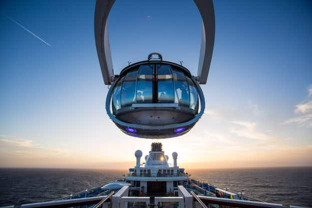 Get a 360-degree world record-breaking view from 300 feet above a cruise ship