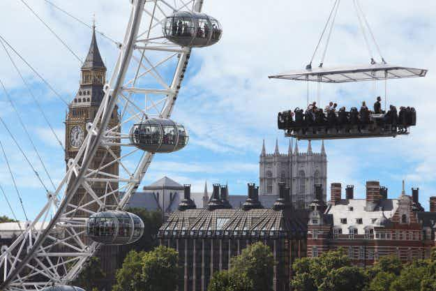 Is this the new trend for 2017? You can book dinner in the sky in five cities across the UK next year