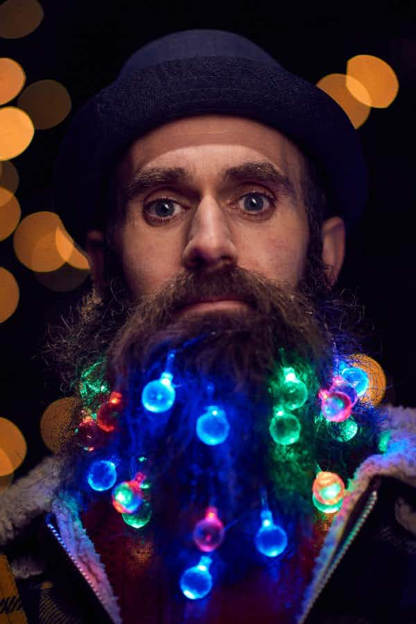 Get lights woven into your beard in East London for the ultimate hipster Christmas look
