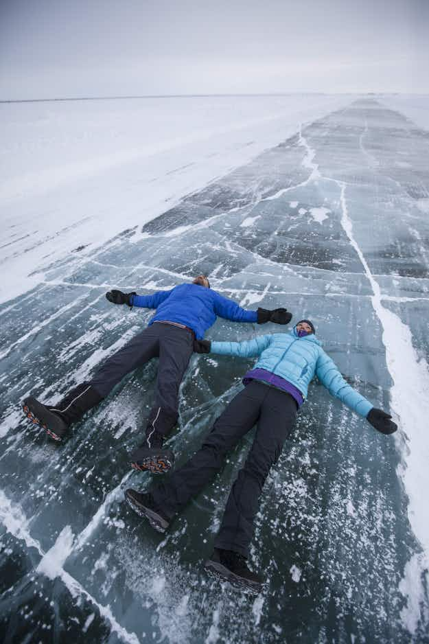 This is your last chance to drive the famous frozen ice road north of the Arctic Circle in Canada