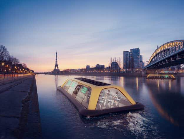 Don't worry gym bunnies: this Parisian gym boat will let you work out while sightseeing down the Seine