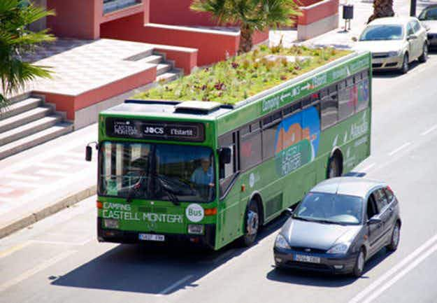 Madrid is getting rooftop gardens on its buses as part of a plan to improve the city