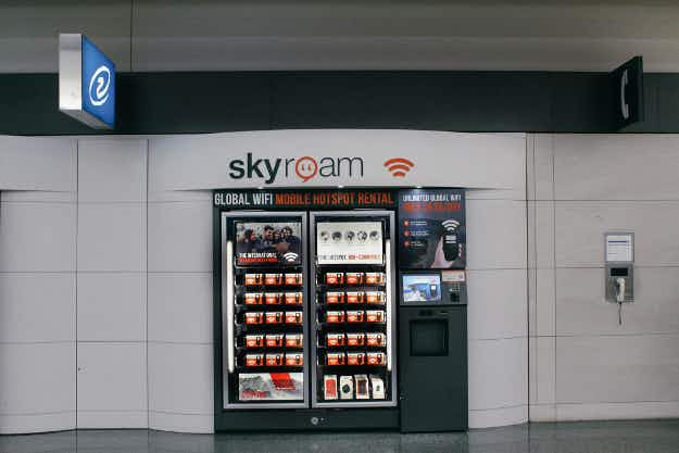 Now you can get WiFi from a vending machine in some US airports
