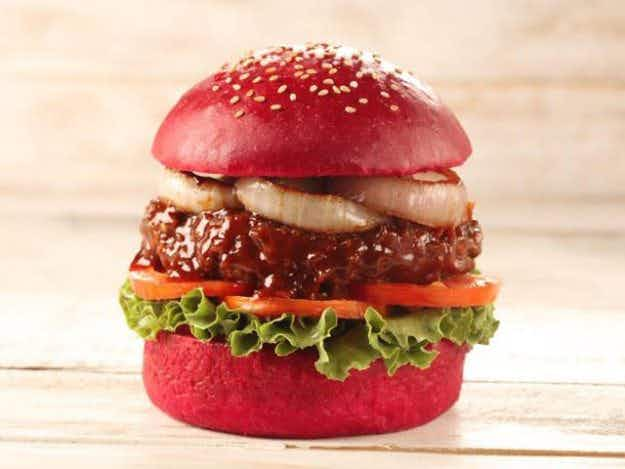The trend for colourful burgers in Mumbai is making food look really pretty