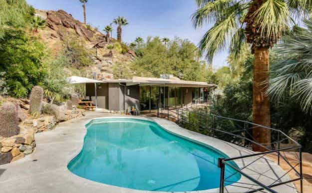 A retro retreat - the one time Palm Springs holiday home of Zsa Zsa Gabor is up for sale