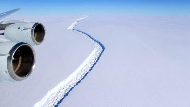 An iceberg a quarter of the size of Wales is poised to break off in Antarctica