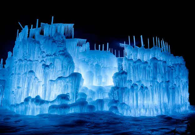 Channel your inner Elsa and visit one of the massive ice castles popping up in North America this winter