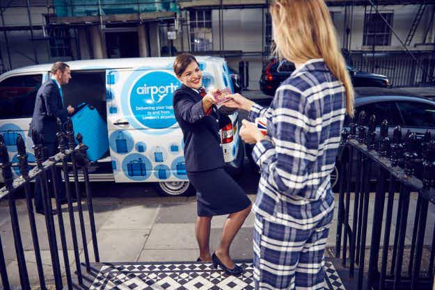 Londoners can now check baggage in from their own doorsteps and have it delivered to the airport