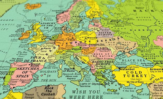 Map Of The World Close Up.Sing Your Way Around The Globe With This World Song Map