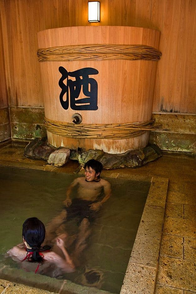 Soak in sake? The Japanese spa tradition is proving a hit with travellers