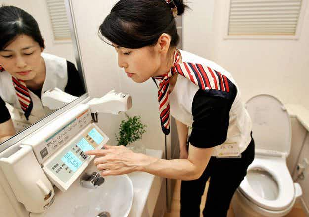 New instructions help tourists understand how to operate Japanese high-tech toilets