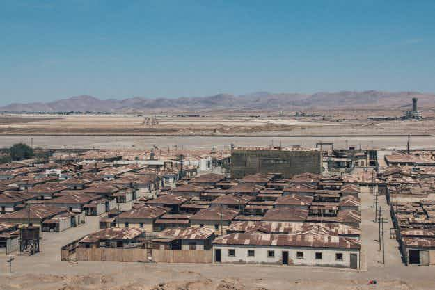 The stark, eerie images from Chile's ghost town abandoned in the Atacame desert
