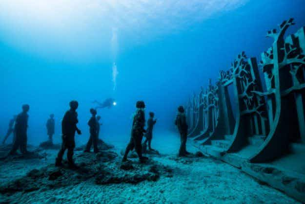 Stunning images from the official opening of Europe's first underwater museum