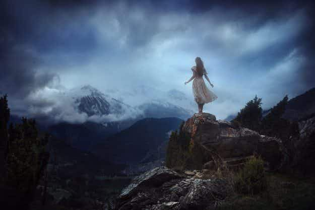 This photographer captures ethereal images of his girlfriend in remote locations around the world