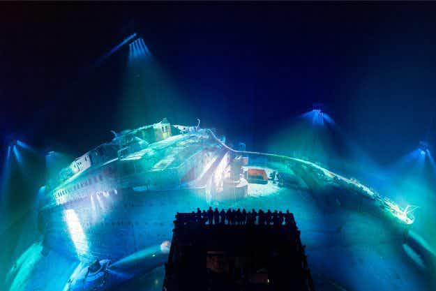 A stunning 360 degree full scale Titanic exhibition has opened in Leipzig