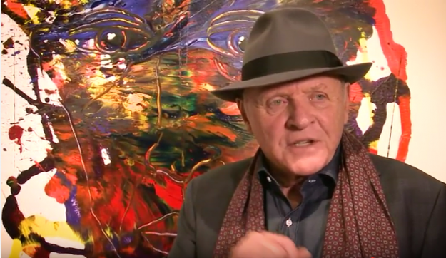 The paintings of actor Sir Anthony Hopkins go on display in Las Vegas and San Diego