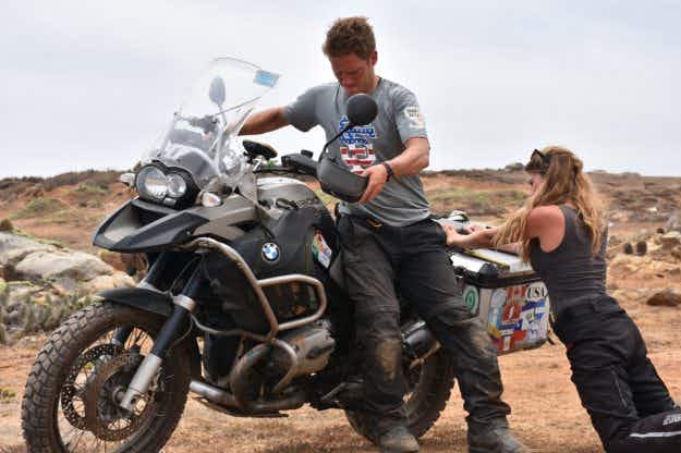 From Alaska to Ushuaia: meet the couple taking a seven-month honeymoon on a motorbike