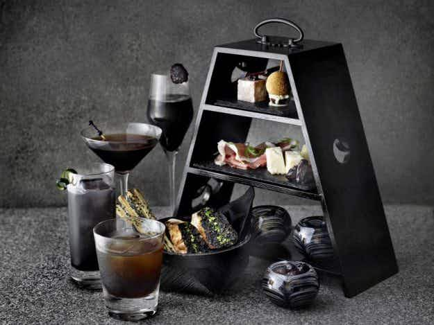 Now you can enjoy black afternoon tea and cocktails at Japan's Black Bar