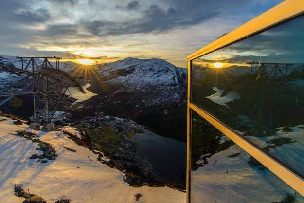 Norway's new and very steep cable car will take travellers from 'fjord to sky' in five minutes