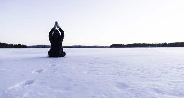 Would you brave the cold to try yoga on ice in Sweden?