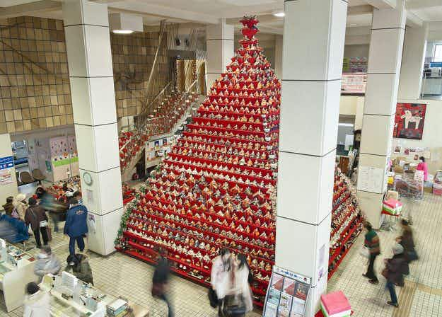 Hina Matsuri festival begins in Japan with a seven-metre-tall pyramid display of china dolls