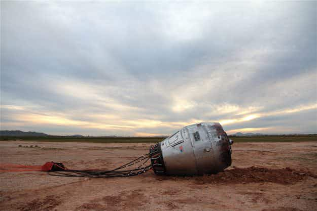 An Arizona man has created a piece of roadside art that looks like it fell from space
