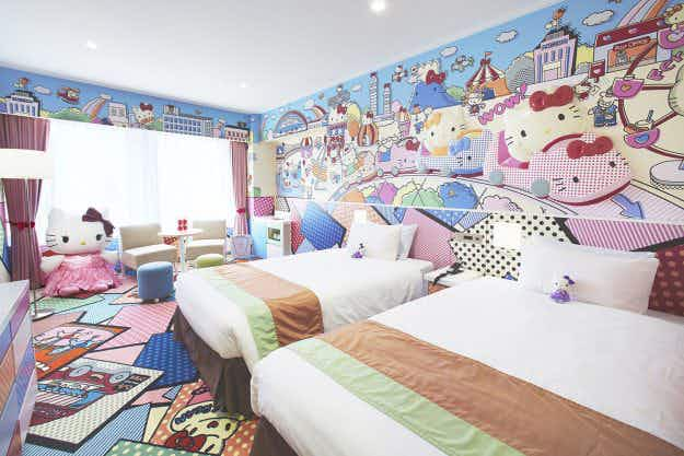 You can have the full Hello Kitty experience in this Tokyo hotel