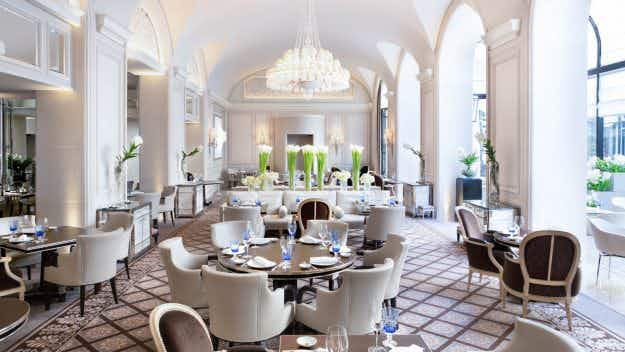 This hotel in Paris is the first palace hotel in Europe with three Michelin-starred restaurants