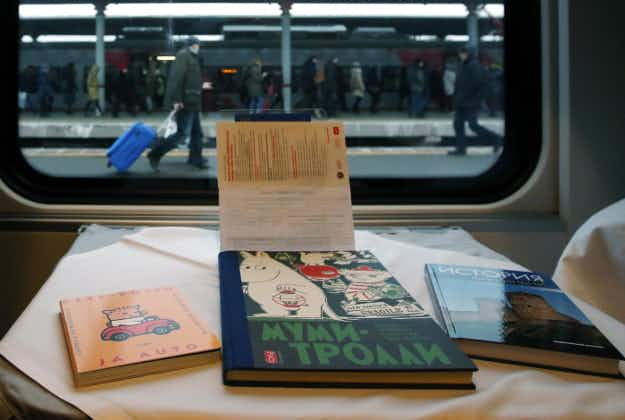 Moscow's airports and railway stations offer free library services
