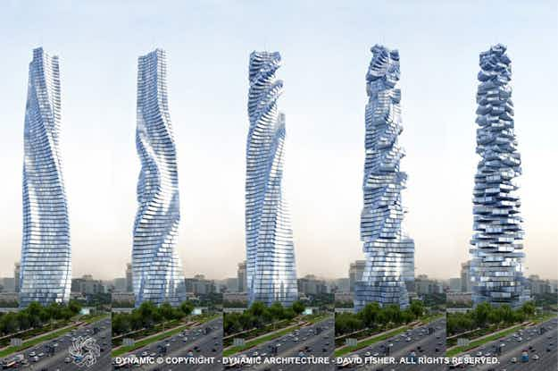 Dubai has plans for the world's first rotating skyscraper where the views constantly change