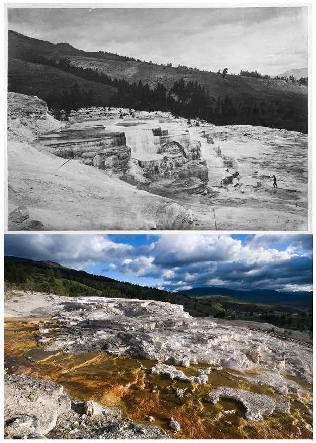 This photojournalist has recreated incredible old photos of Yellowstone National Park