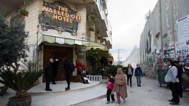 Would you pay a $1000 deposit before you stay at the newly-opened Banksy hotel in Bethlehem?