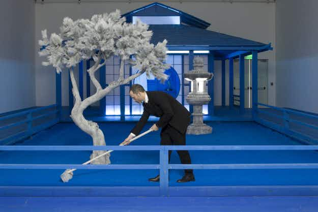 A colorblind artist has filled Atlanta's High Museum of Art with incredible blue installations