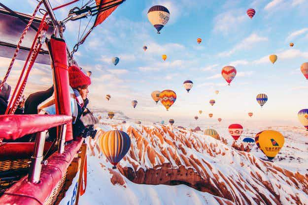 Photographer captures magical images of Cappadocia's famous hot air balloons