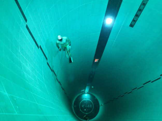 Hold your breath - an incredible look at the deepest swimming pool in the world