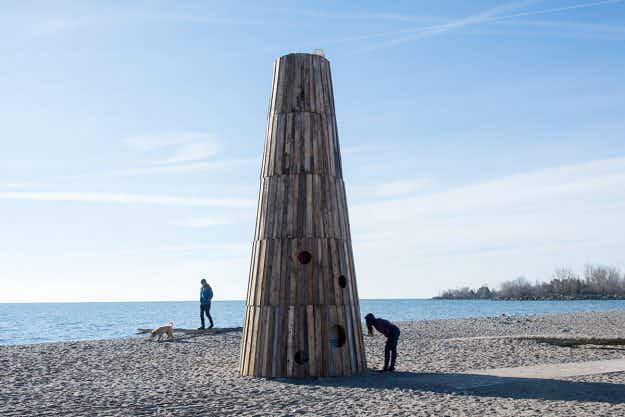 Winter art installations are turning Toronto's chilly beaches into an outdoor gallery