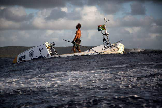 This man spent 93 days crossing the Atlantic Ocean on a stand up paddleboard