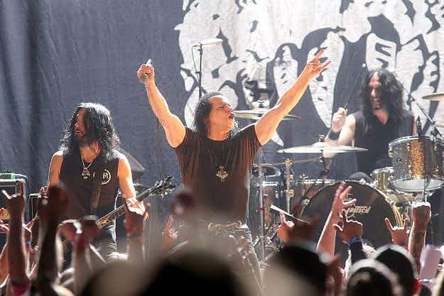 Eeek! Danzig's heavy metal music festival in California will feature a torture castle