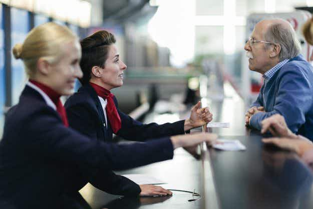 Want to get a free airline upgrade? Why not try being nice?