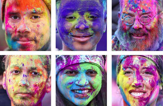 In pictures: the world celebrates the Holi festival of colours