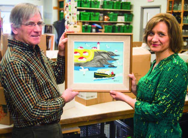 A painting by a famous Canadian folk artist has been discovered in a thrift store bin