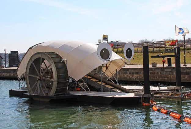 Say hello to Mr. Trash Wheel – Baltimore's googly-eyed, eco-friendly trash collector