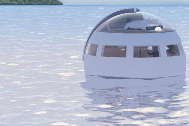 Japan is getting a floating capsule hotel that brings guests to a desert island overnight