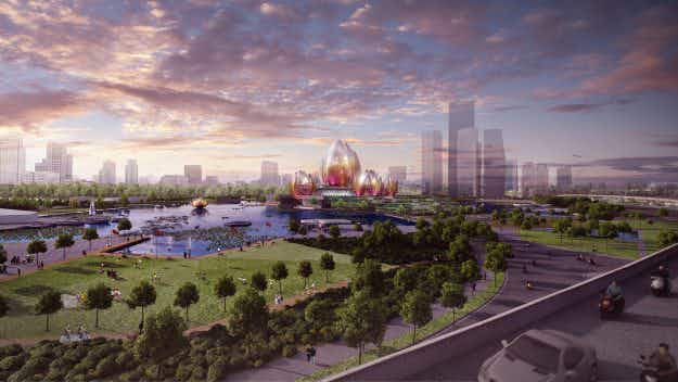 Hanoi is getting a new cultural centre designed to look like blooming lotus flowers