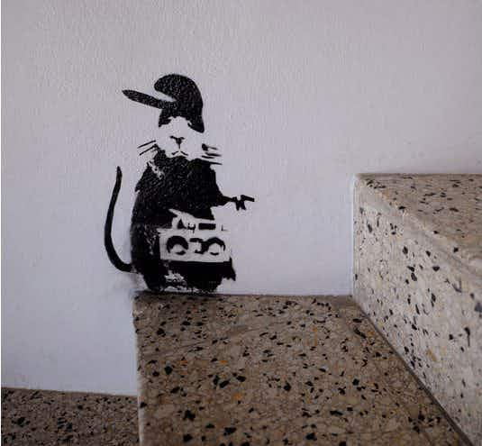 Workmen accidentally paint over Banksy artwork at a Jamaican celebrity resort