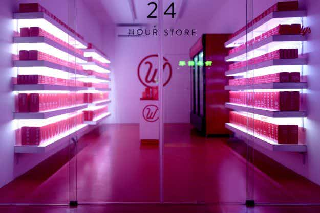 Check out this 24-hour unmanned convenience store in Shanghai
