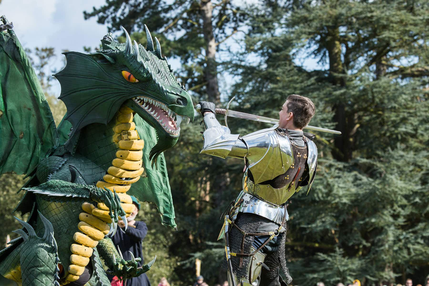 England to celebrate St George's Day with dragons, jousting and Shakespeare